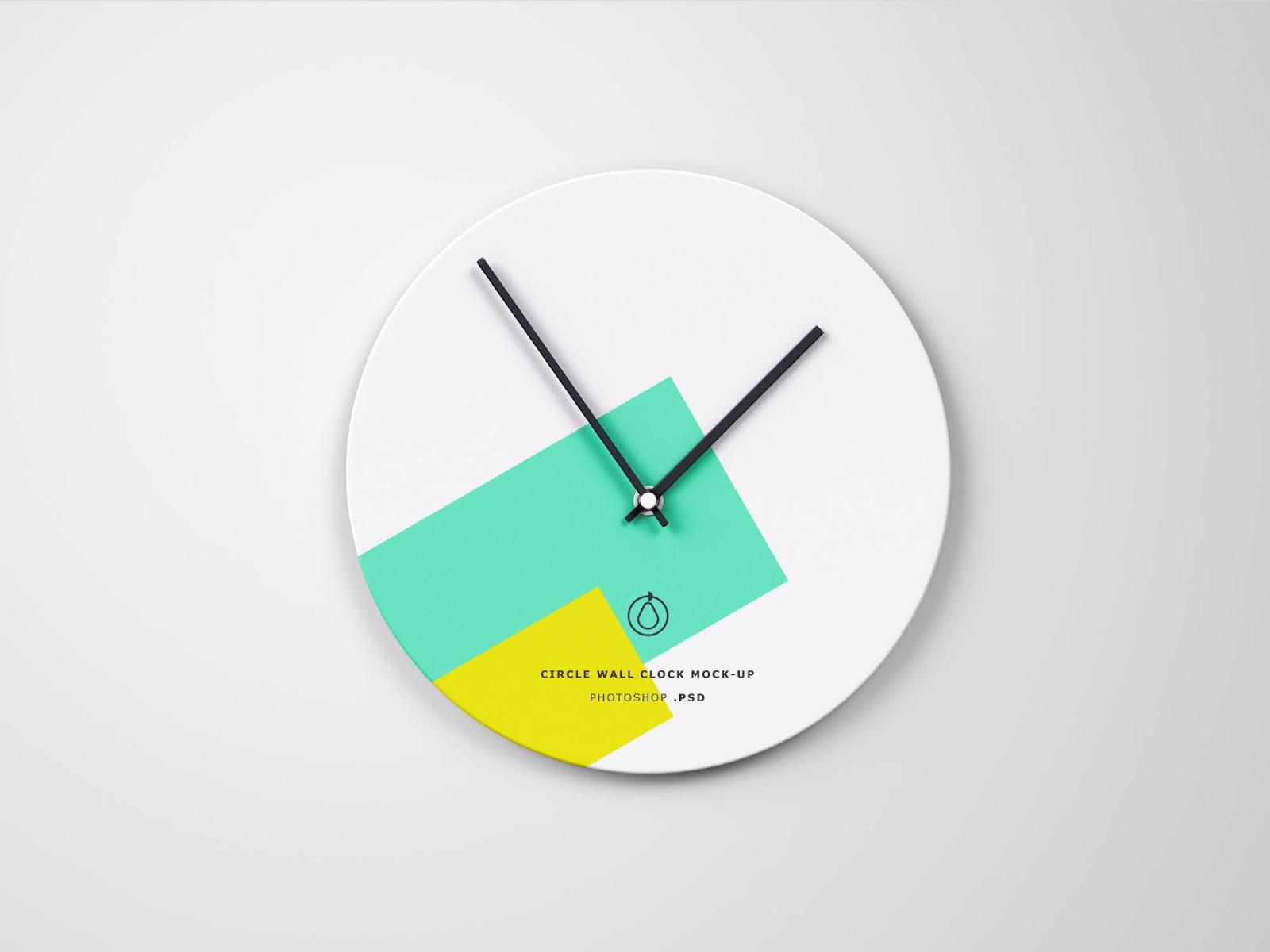 Circle Wall Clock Mockup
