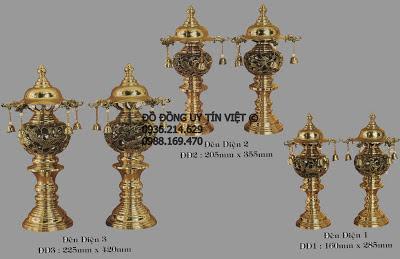 đèn thờ, đèn đồng, đèn thờ cúng