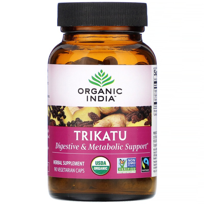 Organic India, Trikatu, 90 Vegetarian Caps
