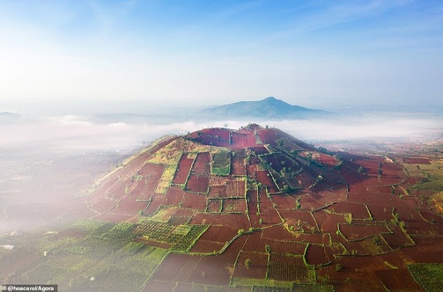 An unerupted crater in Vietnam listed as one of the most beautiful landscape photos in the world