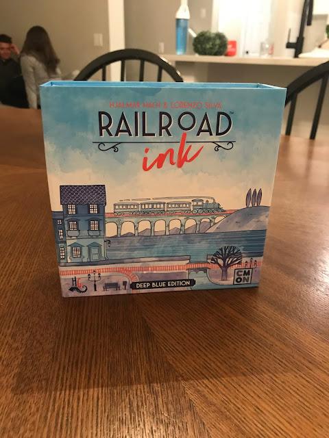 railroad ink deep blue edition board game