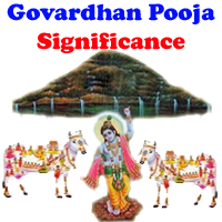 Gowardhan pooja significance, Story behind govardhan puja, how gowardhan pooja celebrated in villages of India.