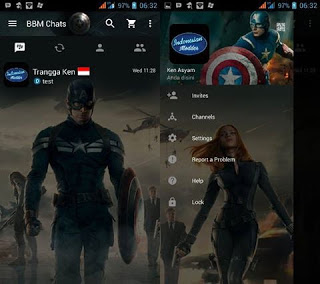 BBM MOD Captain America V3.0.0.18 APK Terbaru 2016