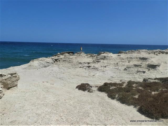 dunas fósiles en Cabo de Gata Almería