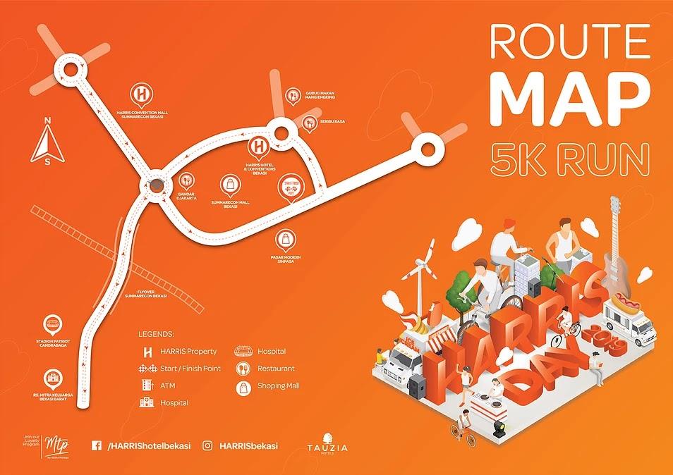 Map - Harris Day Orange Run - Bekasi • 2019