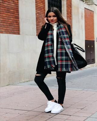 outfit casual de invierno para la escuela