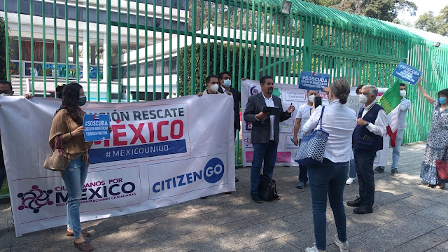 Continúa solidaridad con el pueblo cubano; protestan en México contra dictadura en Cuba