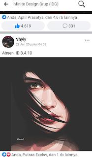 Kumpulan Contoh Hasil Gambar Vector Keren Menggunakan Aplikasi Infinite Design