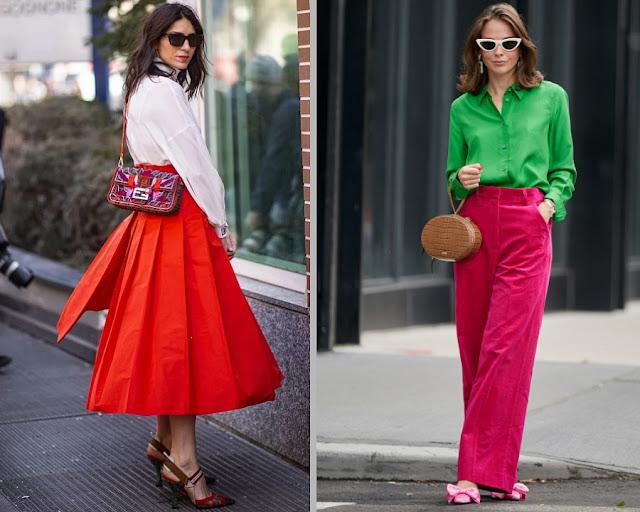 Модные образы яркой одежды 1