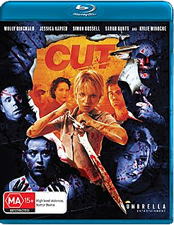 Cover art for Umbrella Entertainment's new Blu-ray release of CUT!