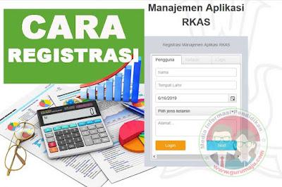 Cara Registrasi Aplikasi RKAS Online