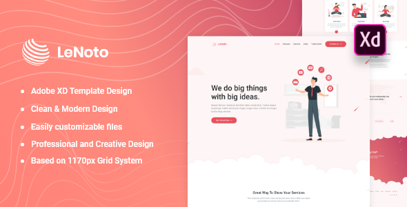 Adobe XD Landing Page Template
