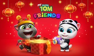 my talking tom friends mod apk hack unlimited money and diamonds