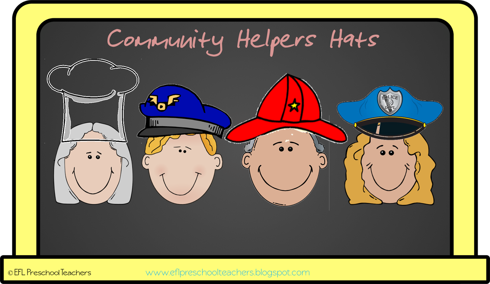 Esl Efl Preschool Teachers Community Helpers Worksheets