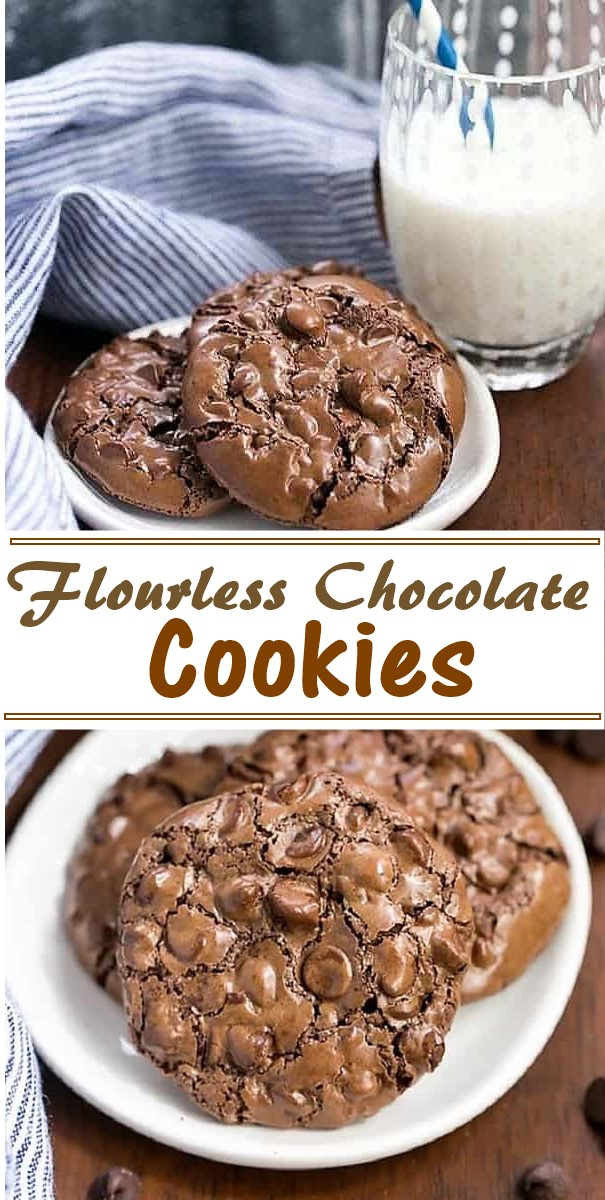 Flourless Chocolate Cookies #cookiesrecipes