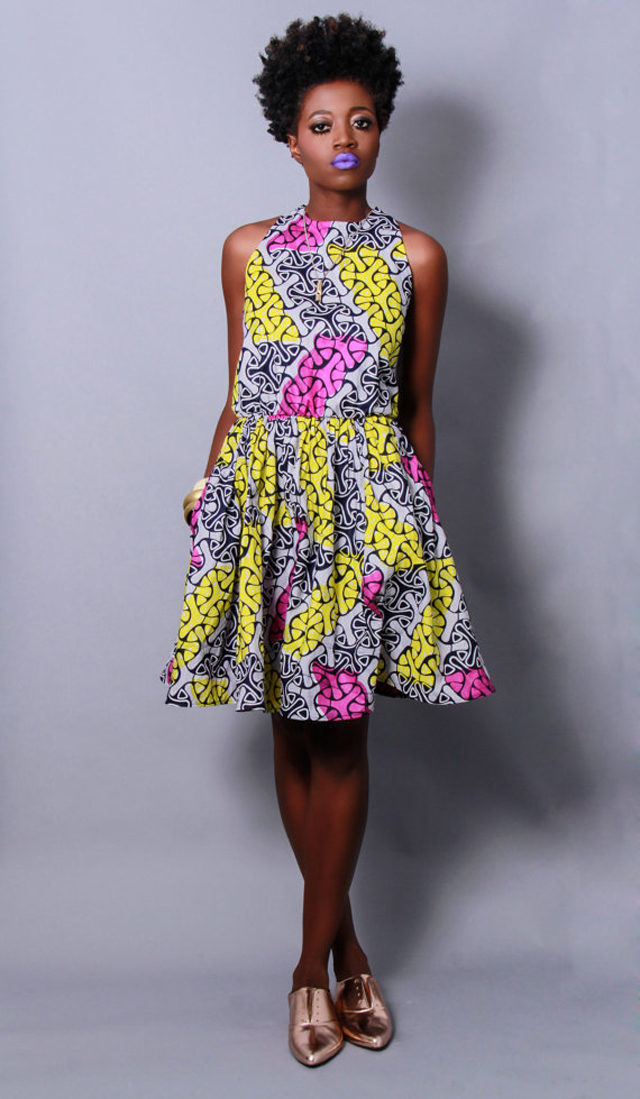 Demesticks  NY African print  style dresses ciaafrique ,african print dresses ,african fashion, african dress styles,kitenge designs , african styles, african style dresses , african style, african dresses See more on ciaafrique.com