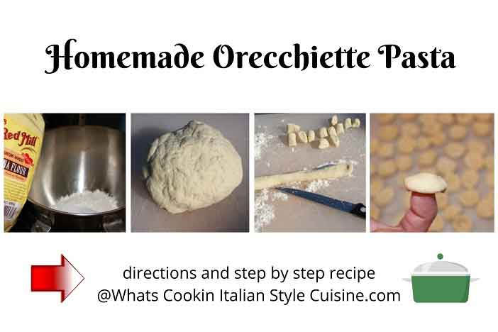 this is a collage of how to make orecchiette pasta