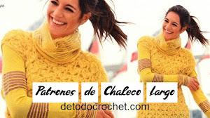 Patrones de Chaleco Largo a Crochet