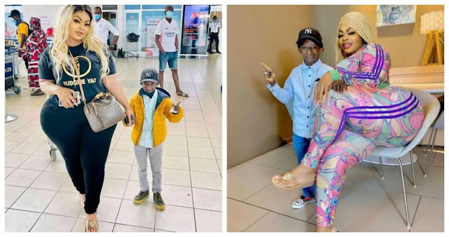 Popular Ivorian socialite Eudoxie Yao and Guinean musician Grand P breaks up after Grand P cheated on her (Photos)