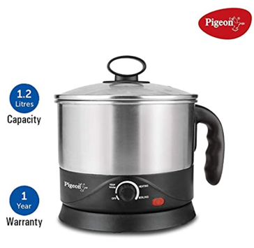 Pigeon by Stovekraft Kessel 1.2-Litre Multi-Purpose Kettle to Prepare your Food Instantly