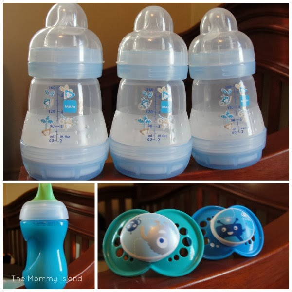 MAM Feed and Soothe Bottle Set and Pacifiers