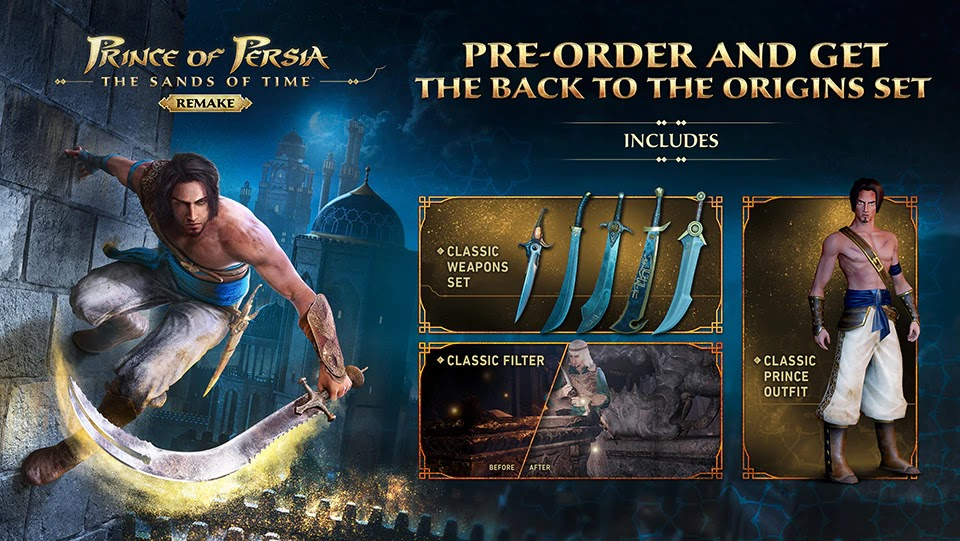 Melakukan tahap preorder game Prince of Persia: The Sands of Time Remake