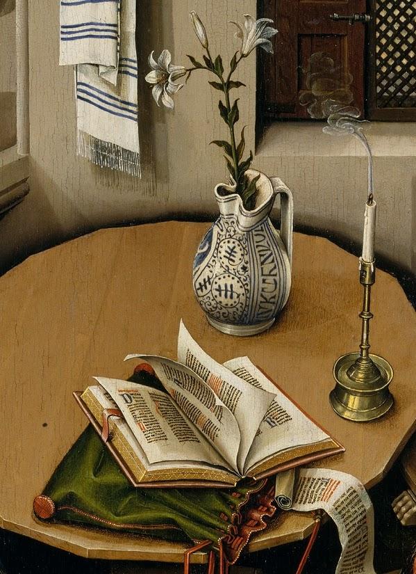 Resultado de imagen de Campin, retablo de merode