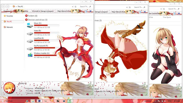 Fate/Extra: Last Encore Theme Win 8/8.1 by Enji Riz Lazuardi