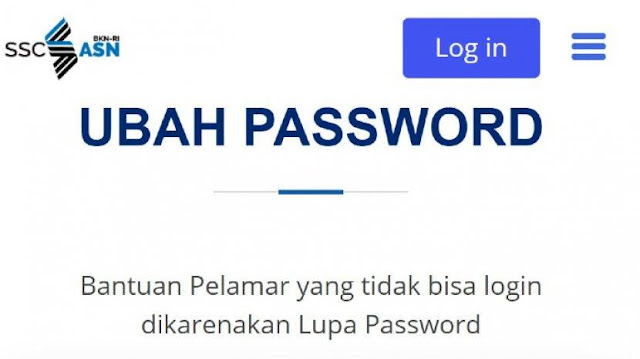 Bagaimana jika saya lupa password login ke Pendaftaran SSCASN Sobat CPNS Rembang ?