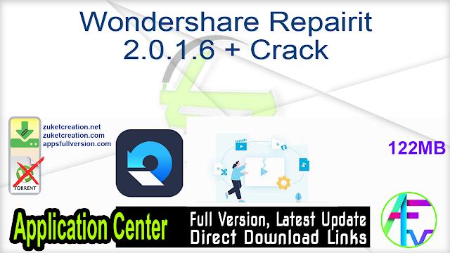 Wondershare Repairit 2.0.1.6 + Crack