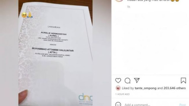 Nama Krisdayanti Jadi Sorotan di Undangan Lamaran Aurel Dengan Atta