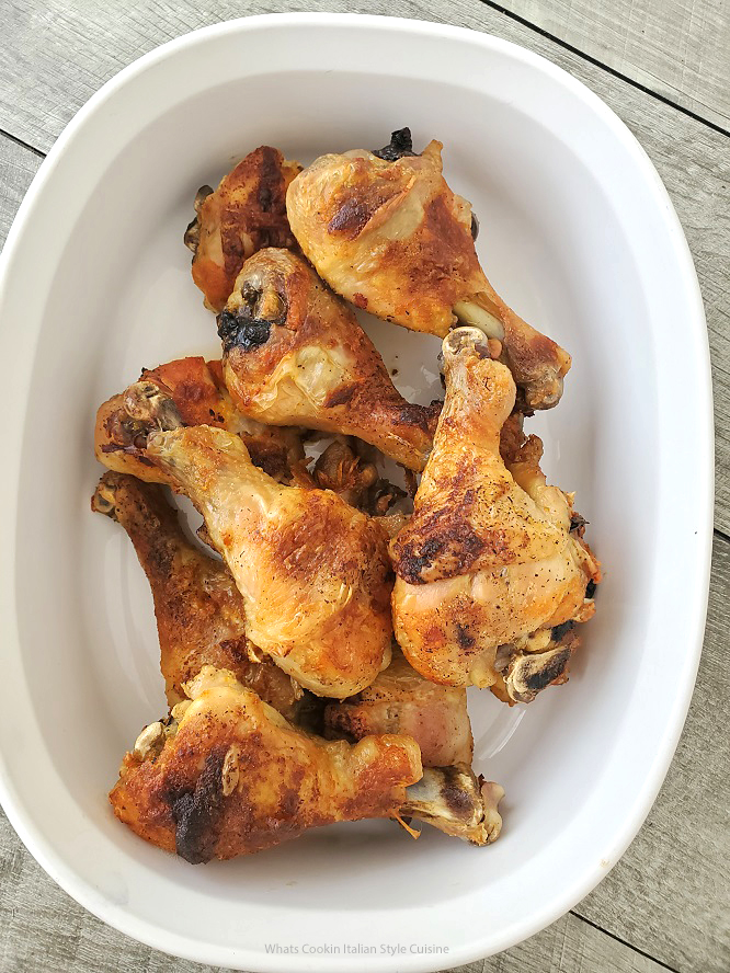 these are chicken legs baked with hot sauce and beer