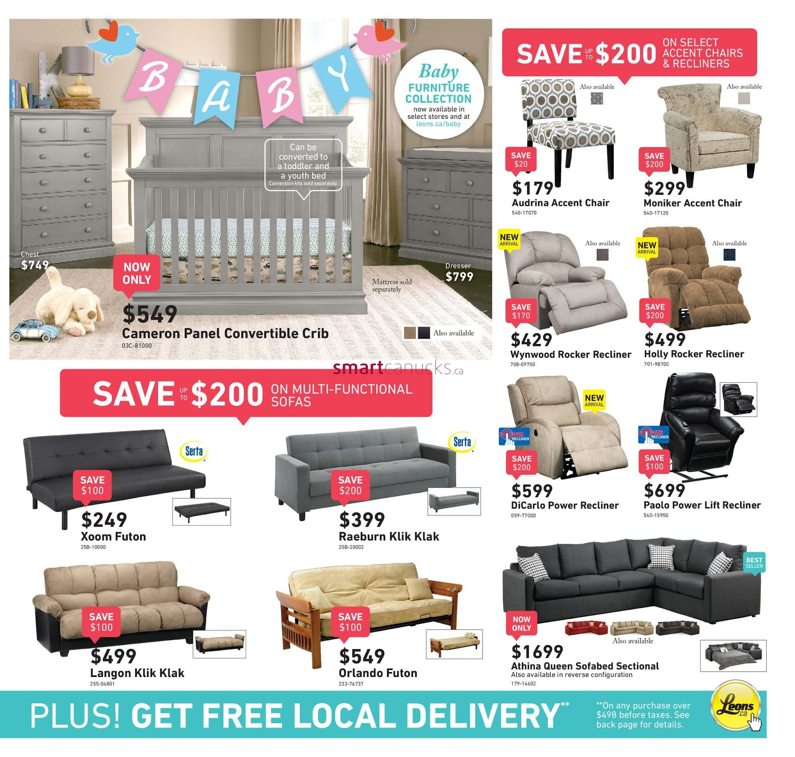 Leons Furniture Kitchener Leons Flyer May 11 24 2017 Weekly Flyers Canada