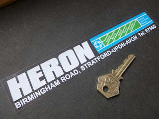 Heron repro rear window sticker by isaydingdong.co.uk