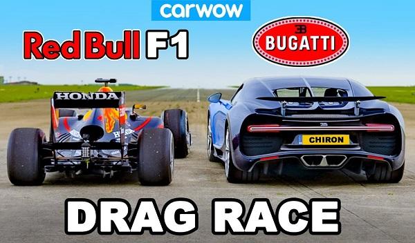 Bugatti Chiron vs Red Bell RB7 Formula 1