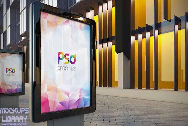 outdoor billboard advertising mockup