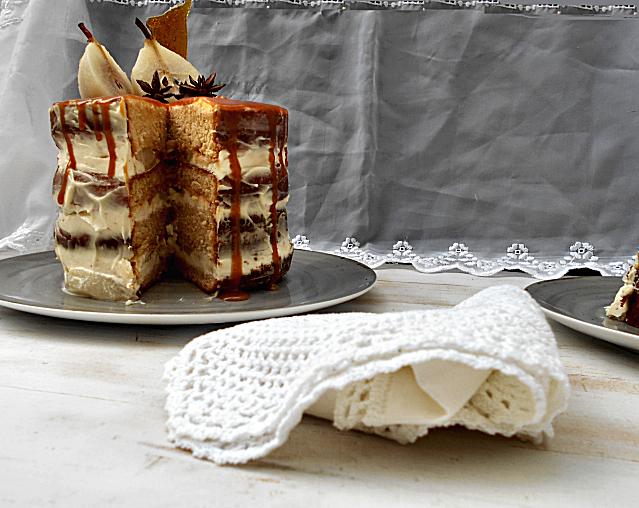 bolo de iogurte pera e caramelo salgado