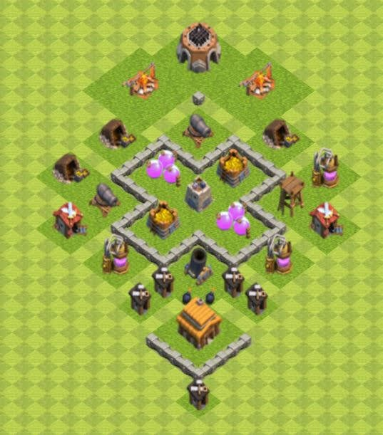 Base COC TH3 Farming 3