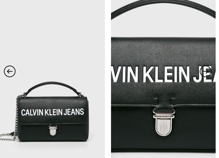 Calvin Klein Jeans - Poseta neagra moderna originala de umar