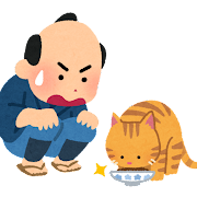 猫の皿のイラスト(落語)