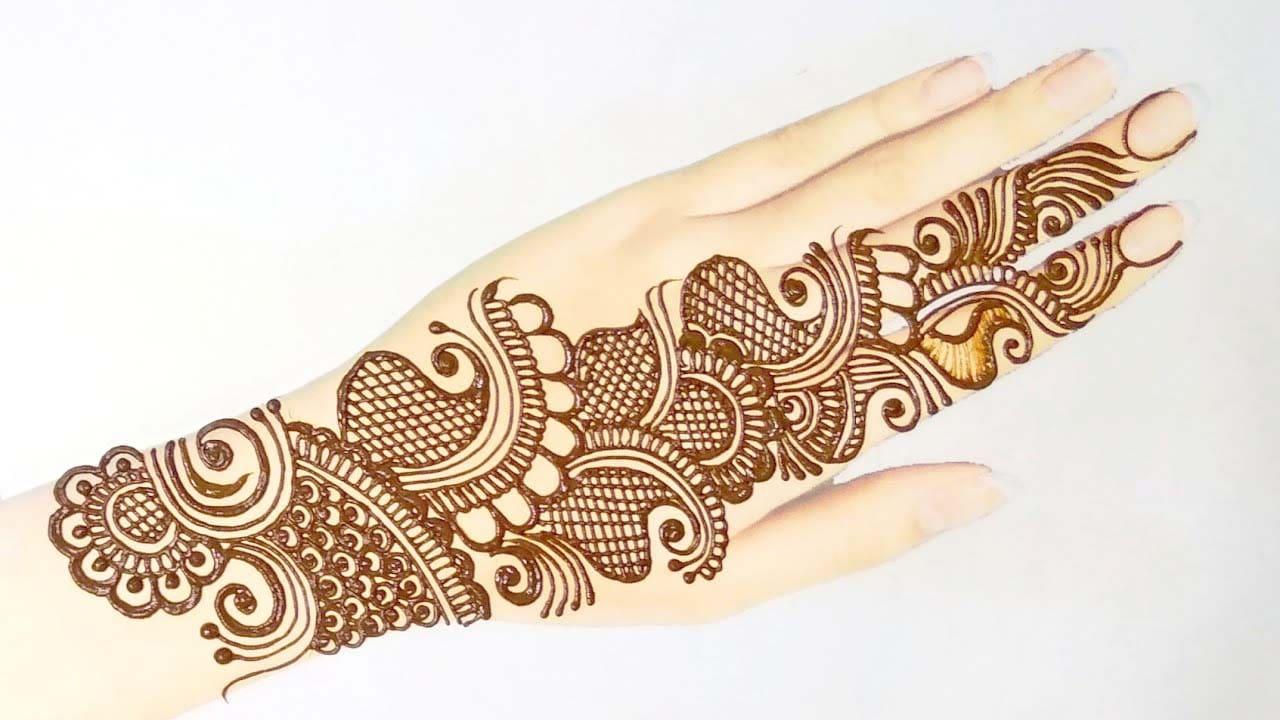 Simple Arabic design For Rakhi
