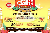 Jakcloth Goes Padang Festival Clothing Line terbesar di Indonesia 28 November - 1 Desember 2019