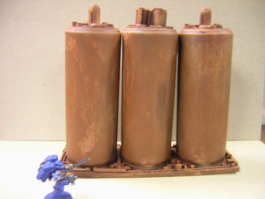 Russ' Hobby Blog: Terrain Project: Red Planet - Storage Tanks & Drilling Rig WIP