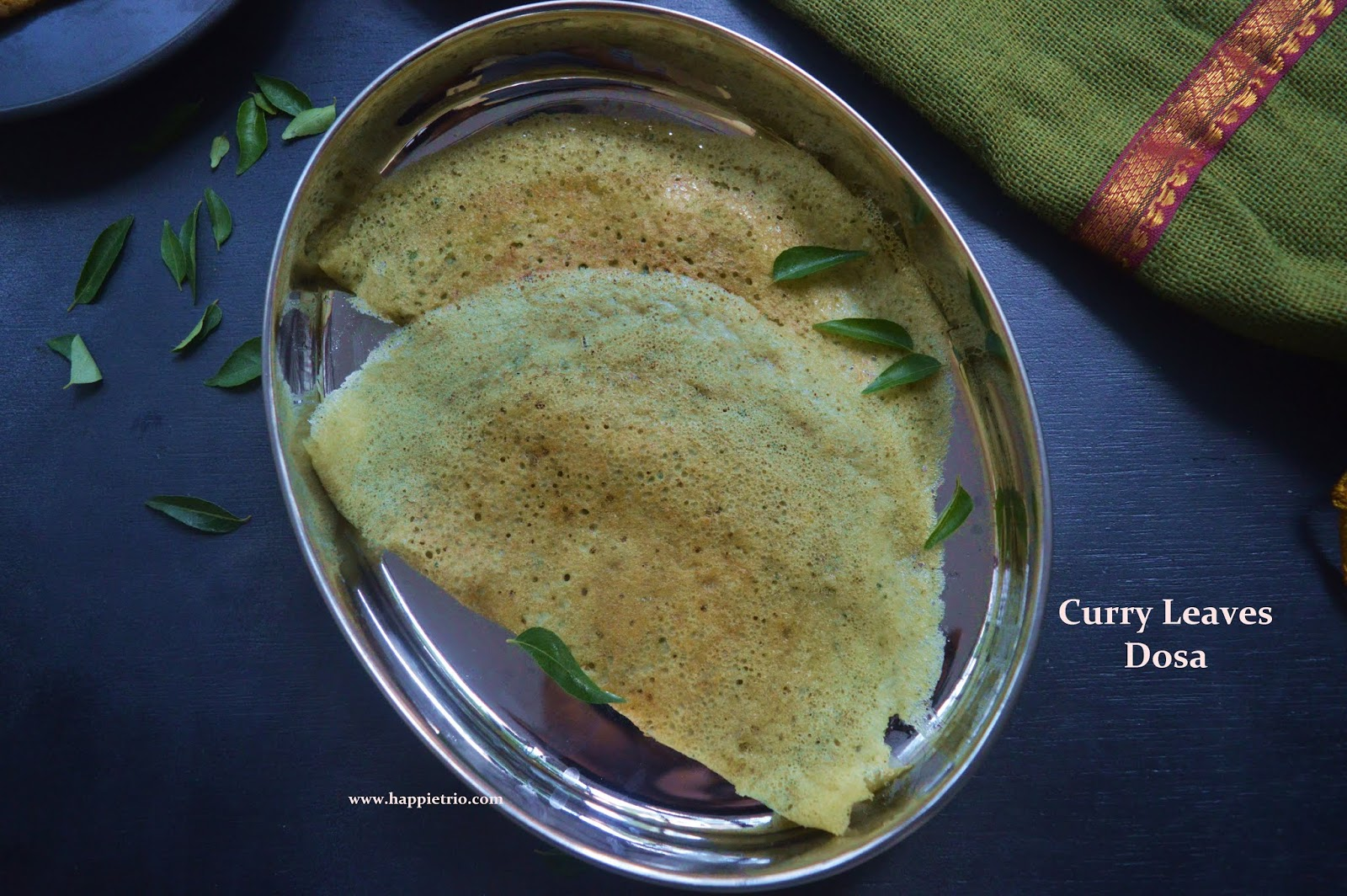 Curry Leaves Dosa Recipe   Karuvepilla Dosa   How to Prepare Dosa with Curry Leaves