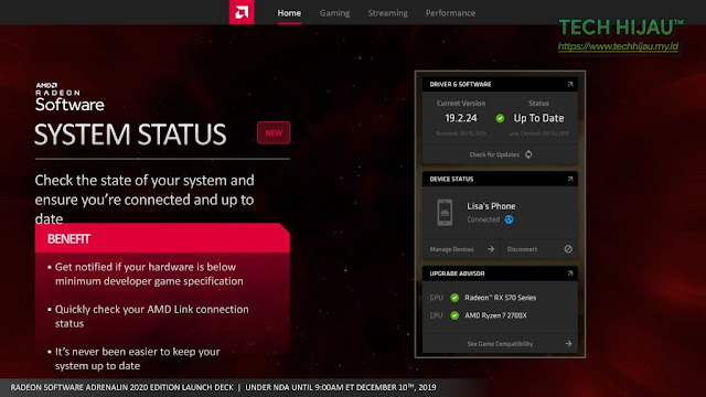 Tech Hijau™ — AMD Radeon Software Adrenalin 2020 Edition - System Status
