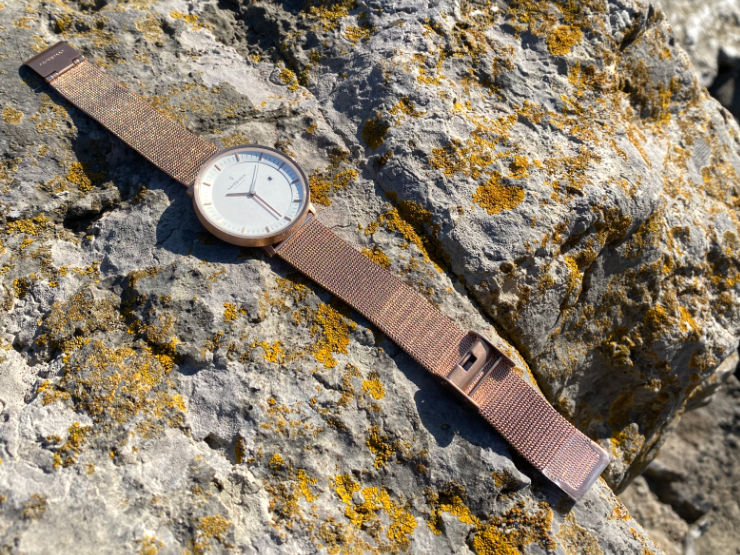 Nordgreen Infinity watch on rock