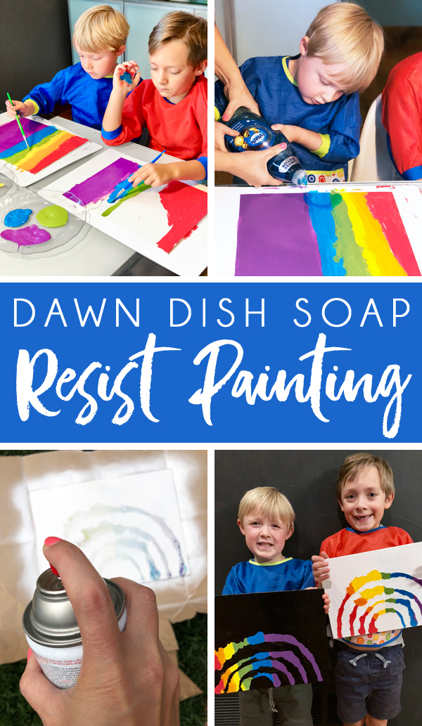 How to create a resist painting with dish soap