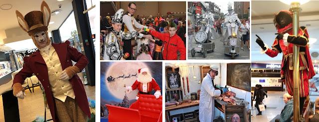 Seizoensgebonden animatie - Paashaas, Sinterklaas, Kerstman, carnaval, halloween. Verschillende typetjes en acts zitten in ons gamma om deze themaaanimatie te voorzien