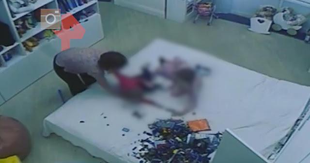 Угрозы ножом: камера сняла зверства няни над детьми в Петербурге