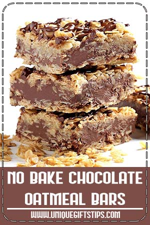 No Bake Chocolate Oatmeal Bars
